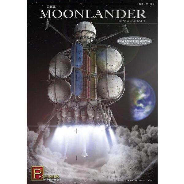Les parties Moonlander Spacecraft.Includes pour construire l'équipage ou des versions Cargo Transport