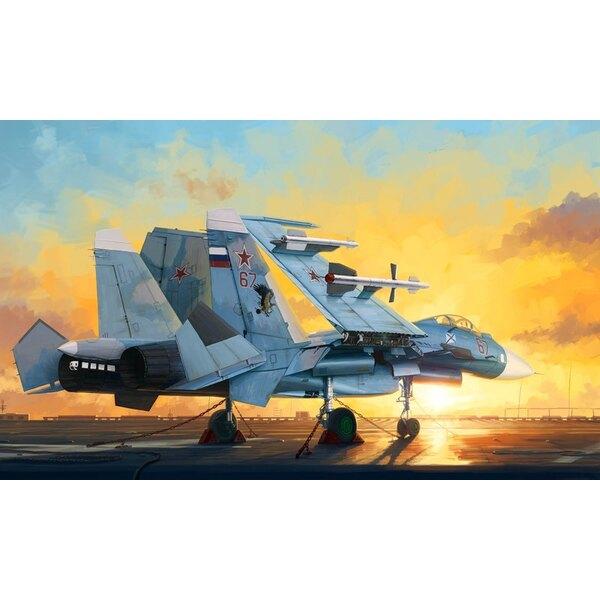 Sukhoi Su-33 Flanker D Comprend Flight Deck et 3 chiffres