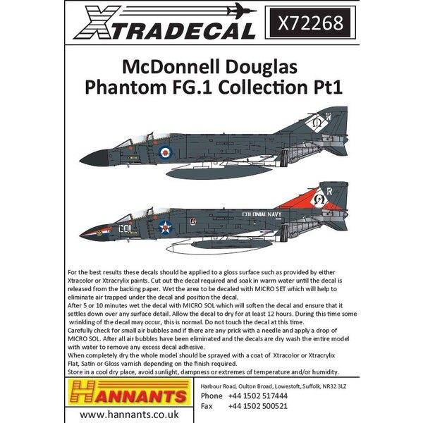 McDonnell Douglas Phantom FG.1 (10) XT866 / W Unité de conversion post-opérationnelle Phantom RN Leuchars 1970s; XT859 725 / VL