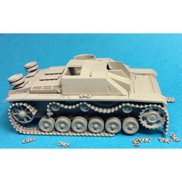 Chenilles endommagées pour la Seconde Guerre mondiale StuG III Ausf.G / StuH 42 / Pz.III (conçu pour être utilisé avec les kits
