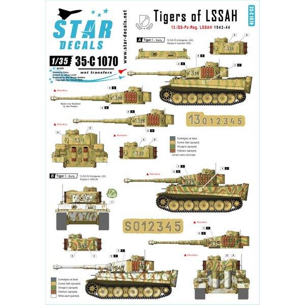 Numéros génériques et insignes pour 1943-44 (y compris Kursk).Tigres de LSSAH.13./SS-Pz-Regiment LSSAH.