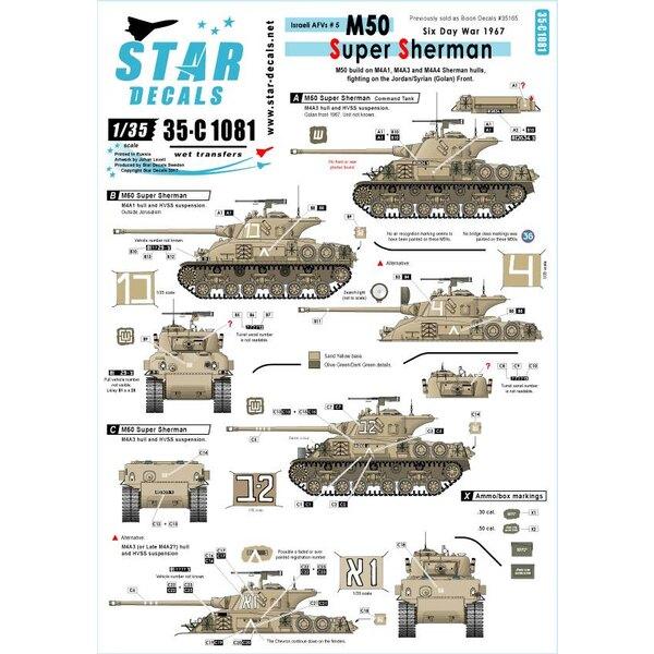 AFVs israéliens 5. Bâtir sur les coques M4A1, M4A3 et M4A4 Sherman.M50 Super Sherman.Six Day War en 1967. Vendu précédemment c