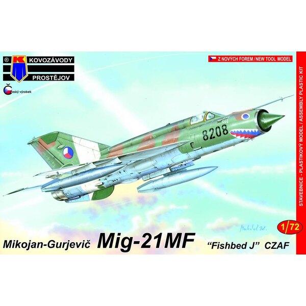 """Mikoyan MiG-21MF Fished J """"AF tchécoslovaque"""" (c'est le kit RV Aircraft mais avec un nouveau sprue contenant un nouveau fuselage"""