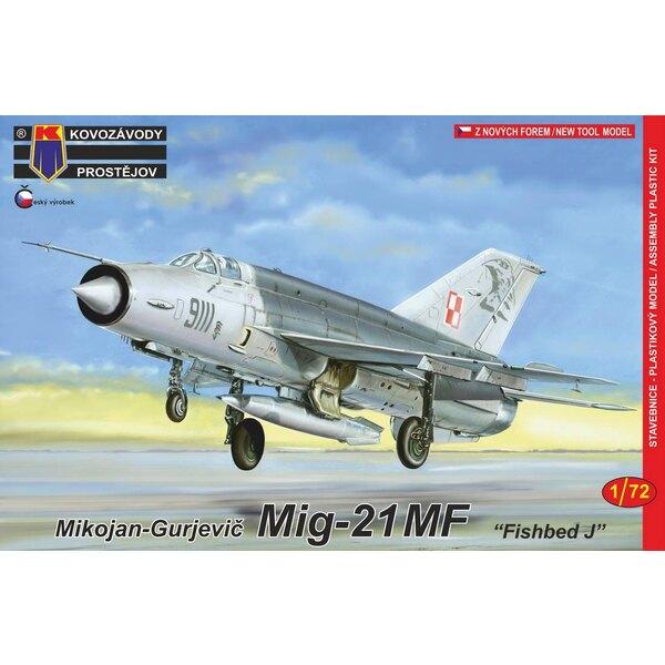 """Mikoyan MiG-21MF Fished J """"Pacte de Varsovie"""" (c'est le kit RV Aircraft mais avec un nouveau sprue contenant un nouveau fuselage"""