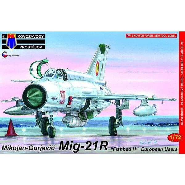 """Mikoyan MiG-21R Fished H """"Recce"""" (il s'agit du kit RV Aircraft mais avec un nouveau sprue contenant un nouveau fuselage et aussi"""