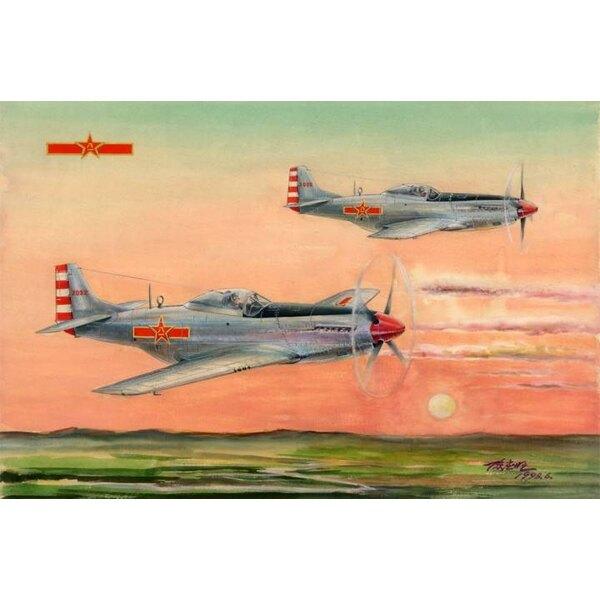 P-51D / K Mustang PLAAF en Amérique du Nord