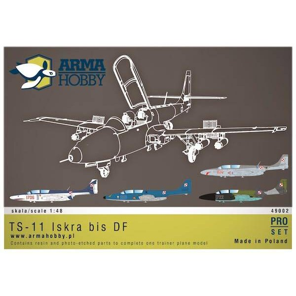 PZL TS-11 'Kit Iskra' bis DF PRO-SetResin avec section complète du moteur, mécanique des armes et des volets inclus.Recommandé