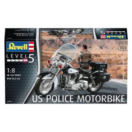 US Police moto.Un kit de construction de modèle de la moto utilisée sur les routes des États-Unis d'Amérique un grand nombre pa