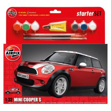 BMW Mini - Kit pour débutant avec peintures acrylique colle incluses