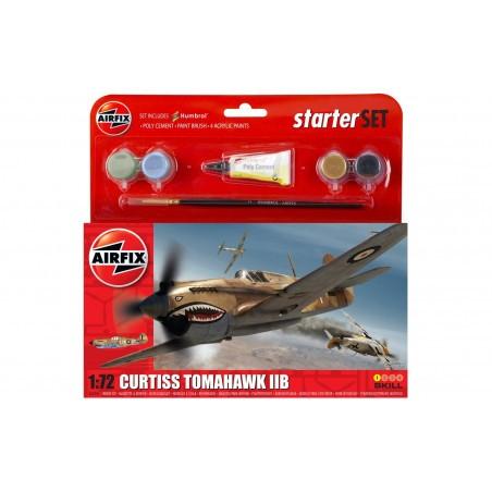 Curtiss P-40B - Kit pour débutant avec peintures acrylique colle incluses