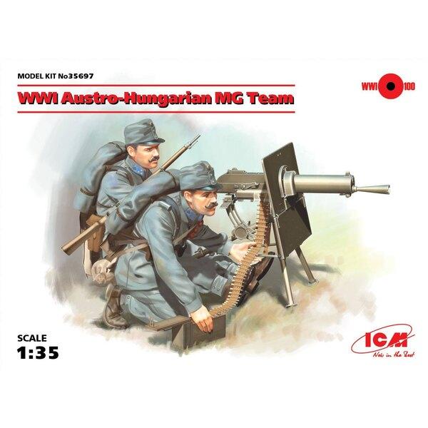 WWI Equipe Austro-Hongroise MG (2 chiffres) (100% de nouveaux moules) L'ensemble comprend deux figures de mitraillettes austro-h