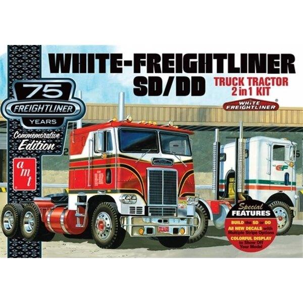 White Freightliner 2-IN-1 tracteur SC / DD (75e anniversaire) Le Kats à AMT a retiré tous les arrêts pour le 75e anniversaire de