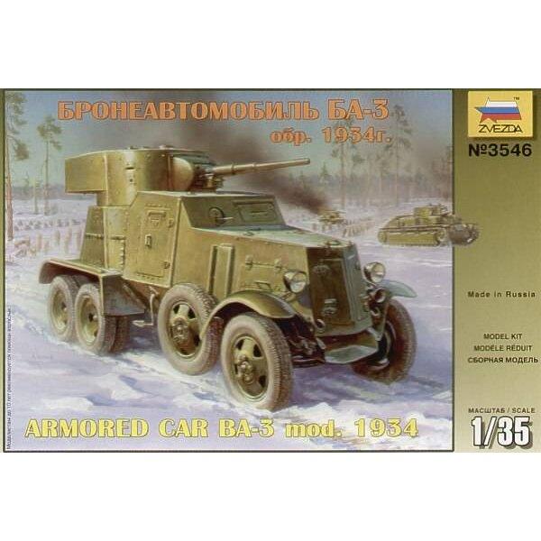 mod BA-3 soviétique 1934 voiture blindée
