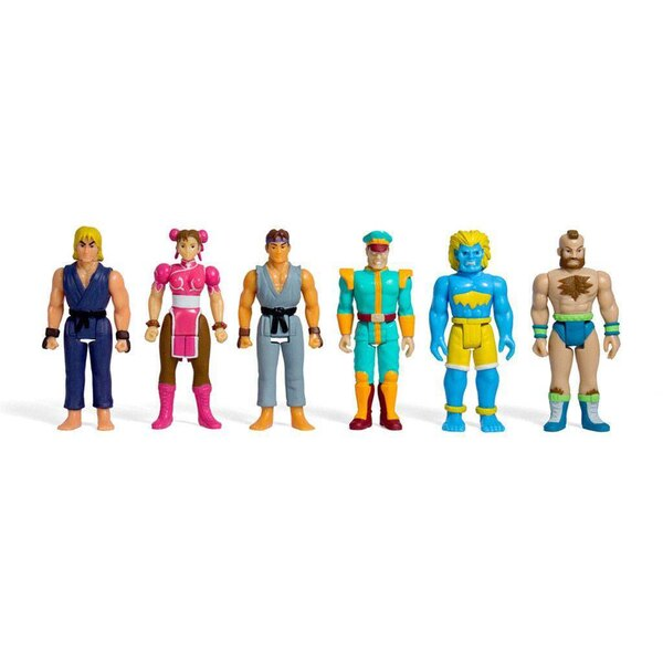 Street Fighter II ReAction Champions Edition assortiment figurines 10 cm (6)