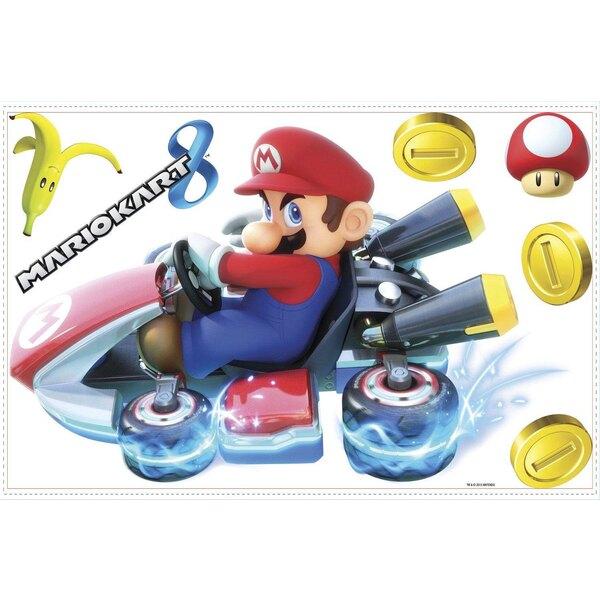 Nintendo Décoration vinyle repositionnable géante Mario Kart 8