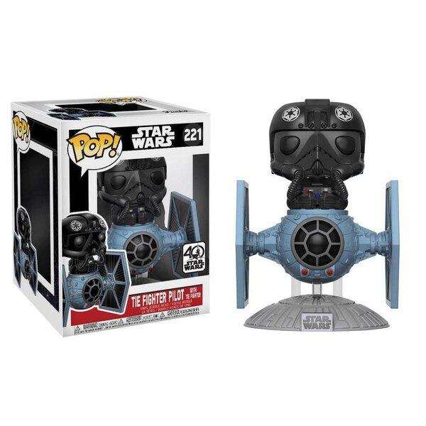 Star Wars POP! Vinyl Bobble Head Tie Fighter with Tie Pilot 15 cm