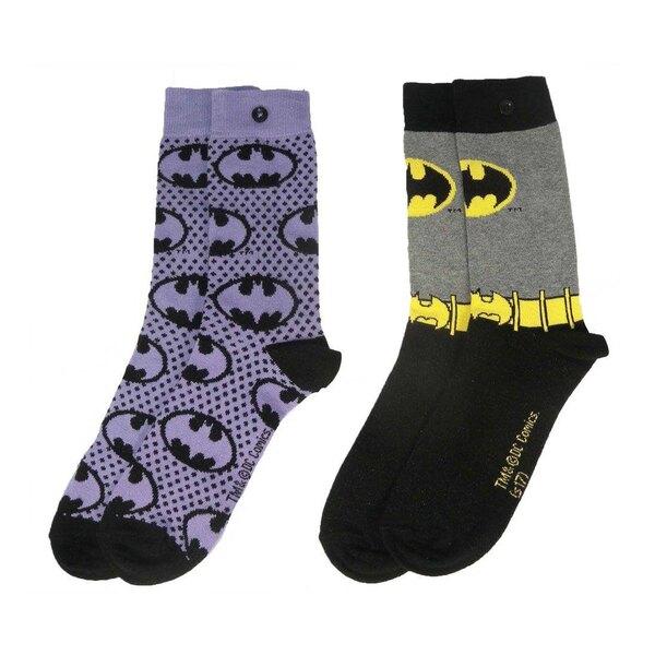DC Comics pack 2 paires de chaussettes femme Batman Purple