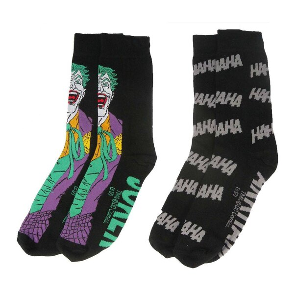 DC Comics pack 2 paires de chaussettes homme Joker