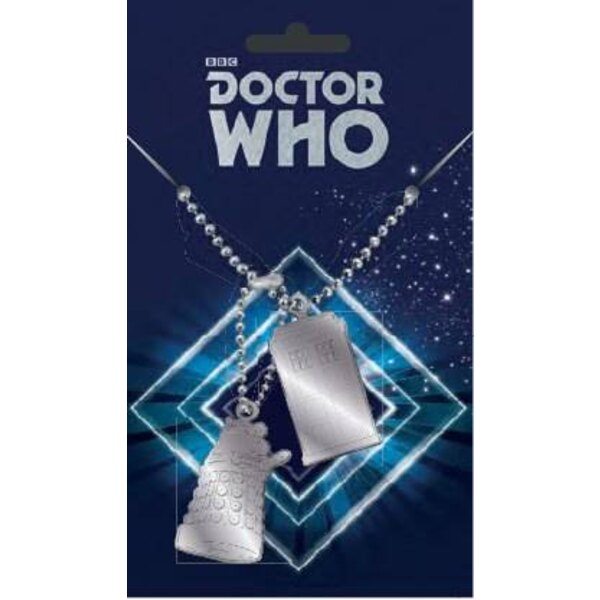 Doctor Who pendentifs Dog Tag Tardis & Dalek