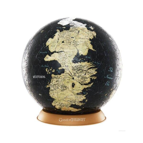 Puzzle Le Trône de fer puzzle 3D Globe Unknown World (80 pièces)