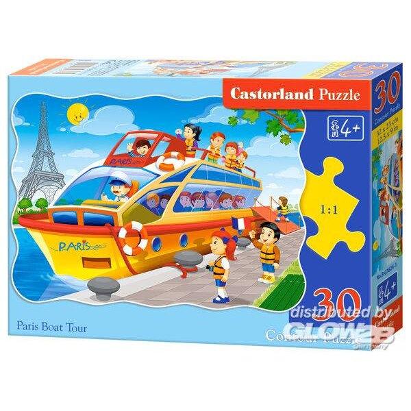 Puzzle Paris Boat Tour, puzzle 30 pièces