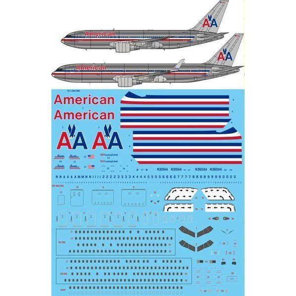 Livraison American Airlines Boeing 767-200 / 767-300