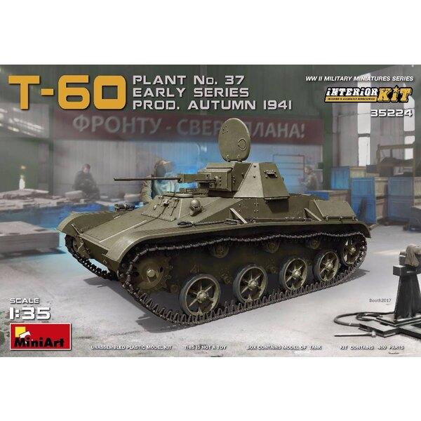 Russe T-60 PLANT No.37 EARLY SERIES.Prod.Automne 1941. Avec l'intérieur.