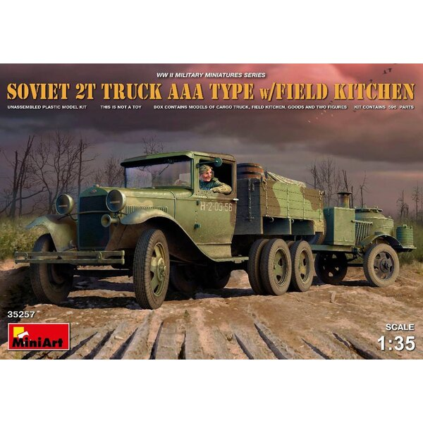 Soviet 2t Truck AAA TYPE avec Field Kitchen
