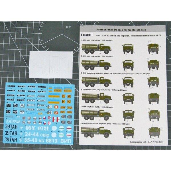 Camion de fret Zil-131 3,5 tonnes, décalcomanies avec masques pour ICM, Bronco Models Kit