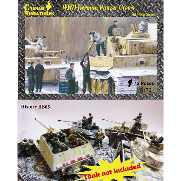 WWII Panzer Crews (Ensembles 2) (bien qu'il s'agisse d'un ancien numéro de pièce, il s'agit d'un nouvel ensemble qui n'a jamais