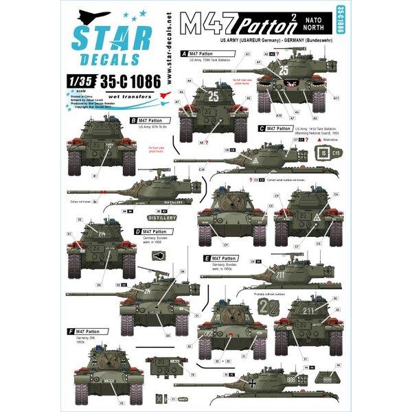 M47 Patton 2. OTAN Nord.Armée américaine (USAREUR) et Allemagne (Bundeswehr).