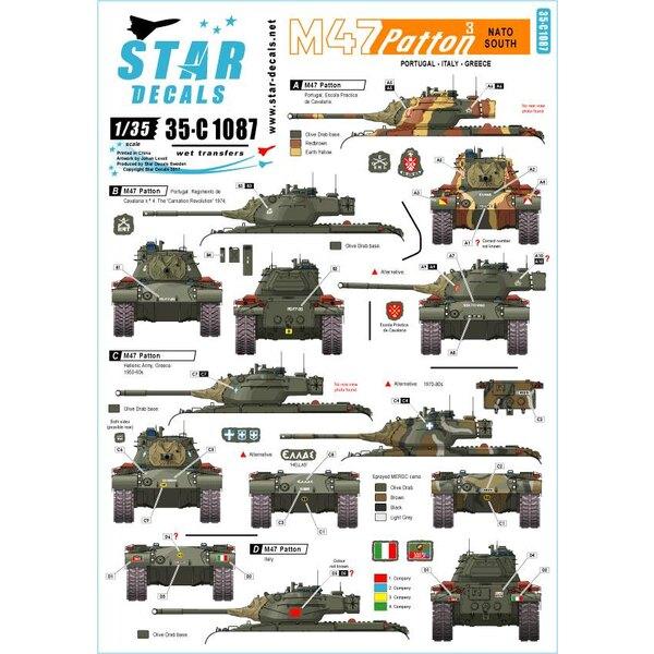 M47 Patton 3. OTAN Sud.Portugal, Italie et Grèce.