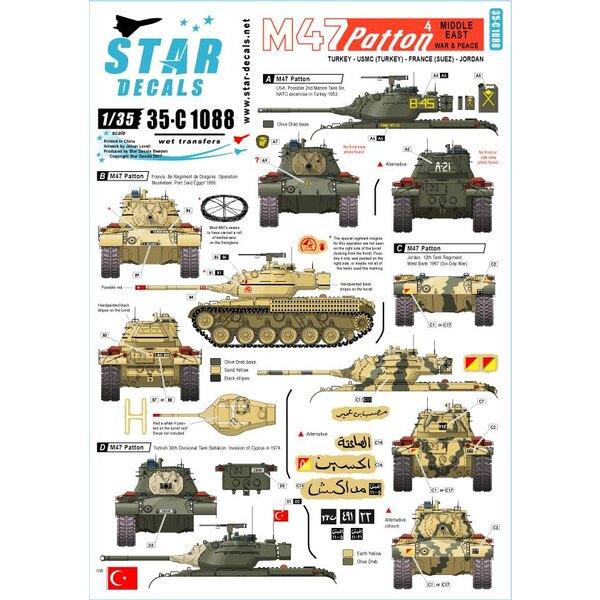 M47 Patton 4. Guerre et paix au Moyen-Orient.Turquie, USMC, France (Suez) et Jordanie.