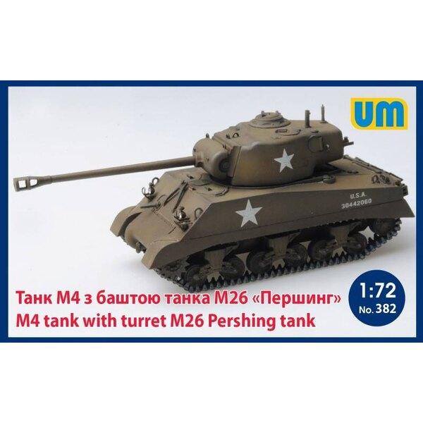 réservoir M4 avec tourelle M26 Pershing réservoir
