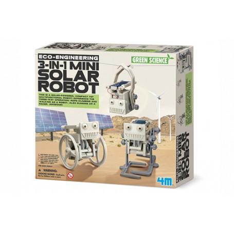 3-en-1 robot solaire mini