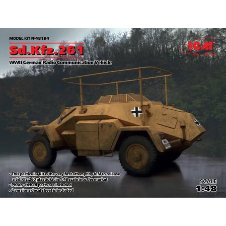 Allemand Sd.Kfz.261 allemand Radio Communication Véhicule Photo-gravé pièces sont incluses2 versions decal feuille est inclus