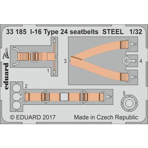 Polikarpov I-16 type 24 ceintures de sécurité en acier (conçu pour être utilisé avec des kits ICM)