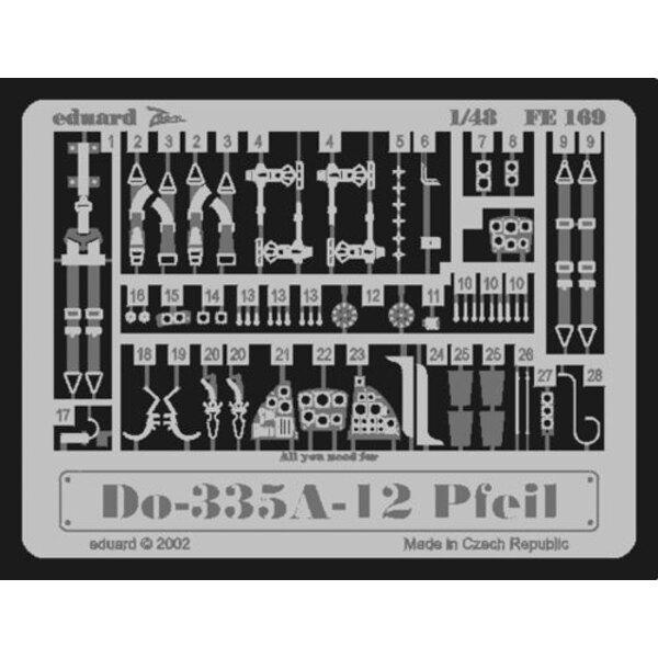 Dornier Do 335A-12 (pour maquettes Tamiya) Ce coffret Zoom est une version simplifiée des jeux standard et inclut seulement quel