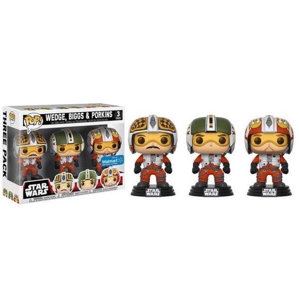 Star Wars pack 3 figurines POP! Vinyl Wedge, Biggs & Porkins 9 cm