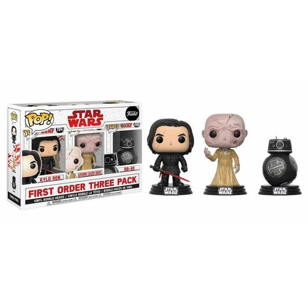 Star Wars Episode VIII pack 3 figurines POP! Vinyl First Order 9 cm