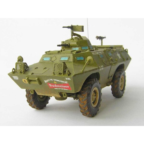 XM-706 E1 Commando armored car. XM-706 E1 (V-100) was built by Cadillac Gage from 1964 and used widely in Vietnam for recon, con