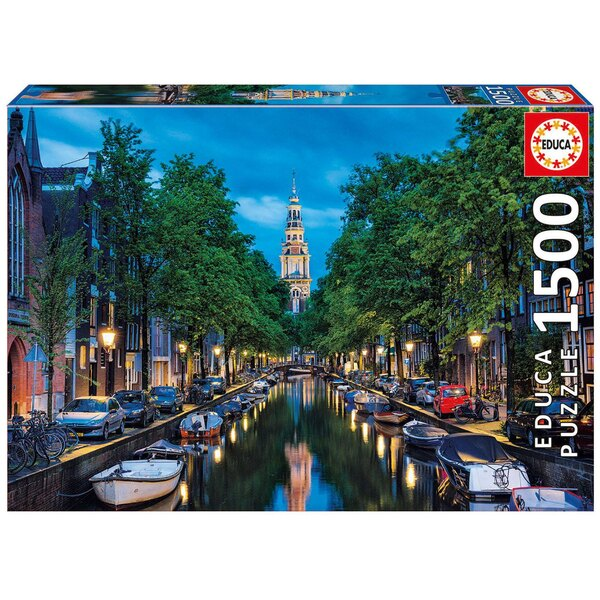 Puzzle Canal d'amsterdam a l'aube