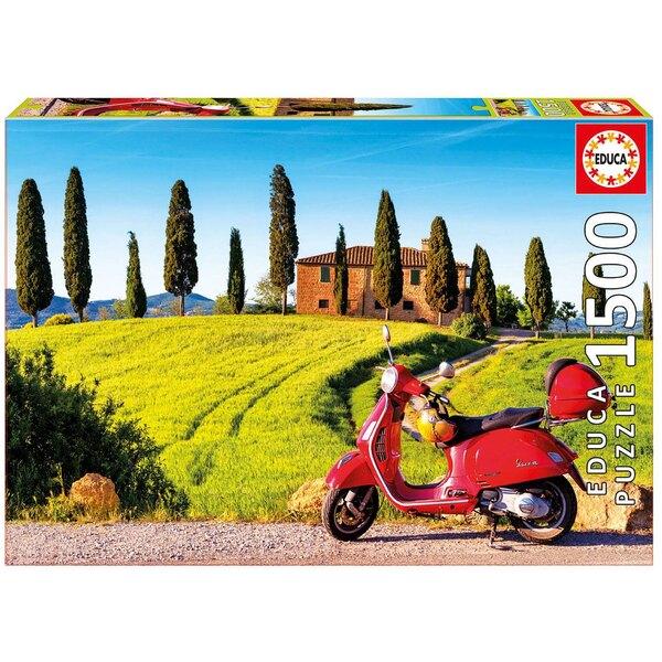 Puzzle La toscane en moto