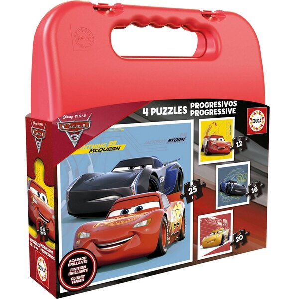 Malette puzzles progressifs cars 3