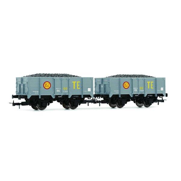 """RN, """"Unified"""", wagons à charbon ouvert """"TE"""" à 2 unités, chargés de charbon"""