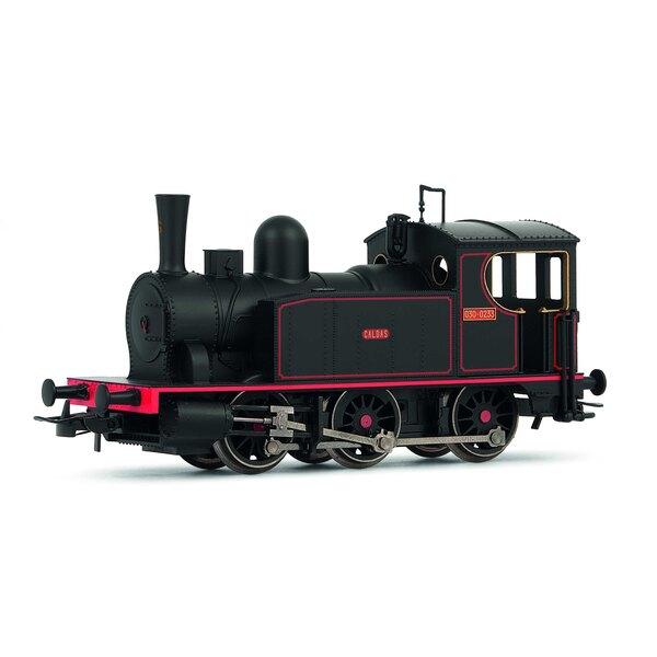 """Locomotive à vapeur espagnole 030 """"Caldas"""" en livrée neuve"""
