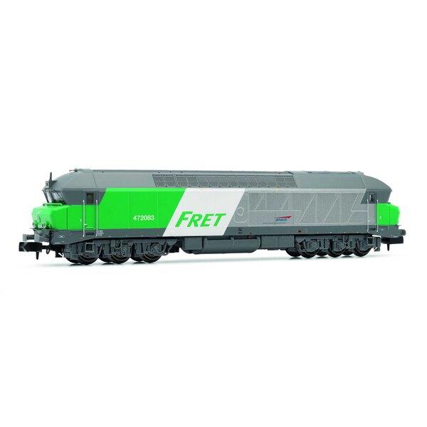 """Locomotive diesel CC 72000 de la SNCF, """"Fret"""", époque V"""