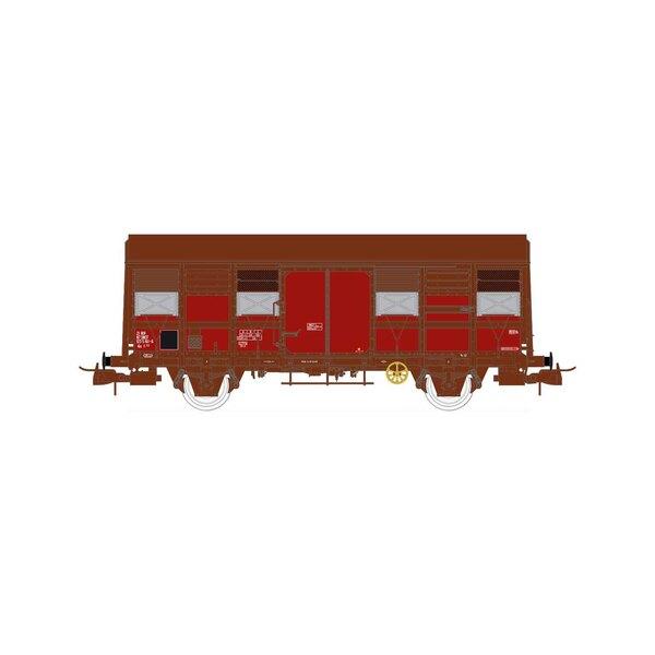 SNCF, coffret de 2 wagons couverts à deux essieux, volets ouverts, Gs 4-02, époque IV