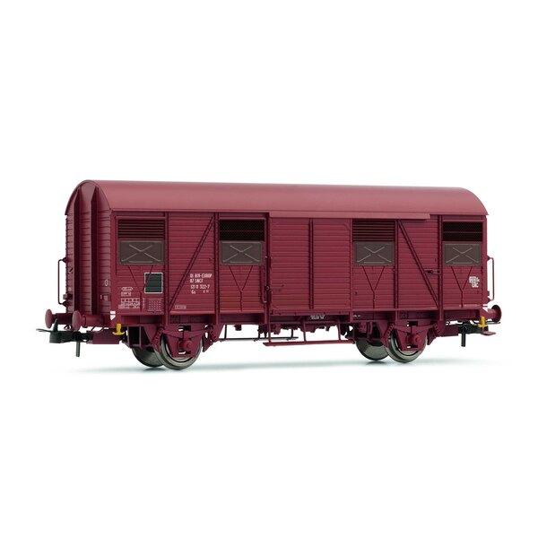 Coffret de 2 wagons couverts à frises G4 à volets ouverts SNCF époque IV