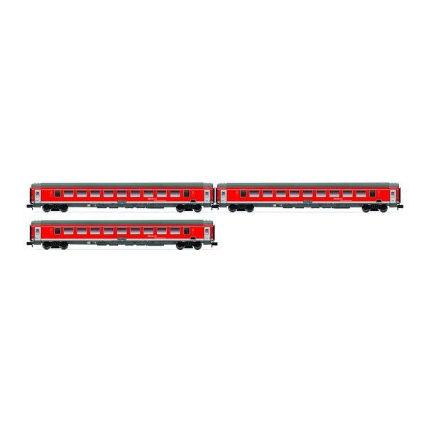 3 piècesSet Munich-Nuremberg-Express de la DB AG, rouge trafic, Ep.VI